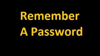 How To Remember A Password