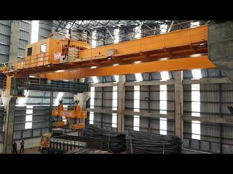 Sinokocrane Upper Trolley Rotation Overhead Crane Working