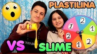 Ruleta de Plastilina VS Slime 2 -  Mystery wheel of Play Doh vs Slime - David y Lina