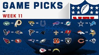Week 11 Game Picks!   NFL 2019