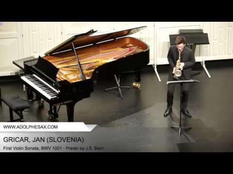 Dinant 2014 - Gricar, Jan - First Violin Sonata, BWV 1001 - Presto by J.S. Bach