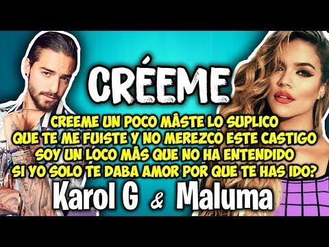 Karol G, Maluma - Créeme (Letra)