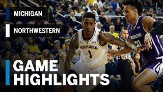 Highlights: Northwestern at Michigan | Big Ten Basketball