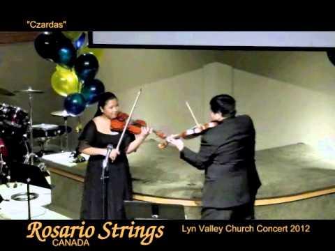 Rosario Strings Canada - Trio (piano, 2 violins) - Mini Concert Setting -