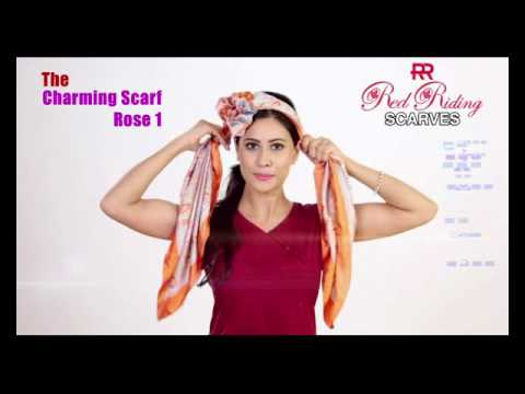 How to Drape Head Scarve with Turban - Draping Tutorial by Red Riding