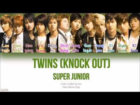 Super Junior (슈퍼주니어) – TWINS (Knock Out) (트윈스) (Color Coded Lyrics) [Han/Rom/Eng]
