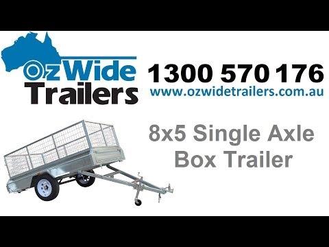 Tandem Trailers Gold Coast - 8x5 Single Axle Box Trailer