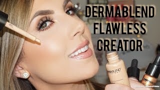 NEW! DERMABLEND FLAWLESS CREATOR | FOUNDATION & HIGHLIGHT REVIEW