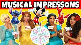 WHEEL OF MUSICAL IMPRESSIONS. (We Sing in Disney Character Voices)