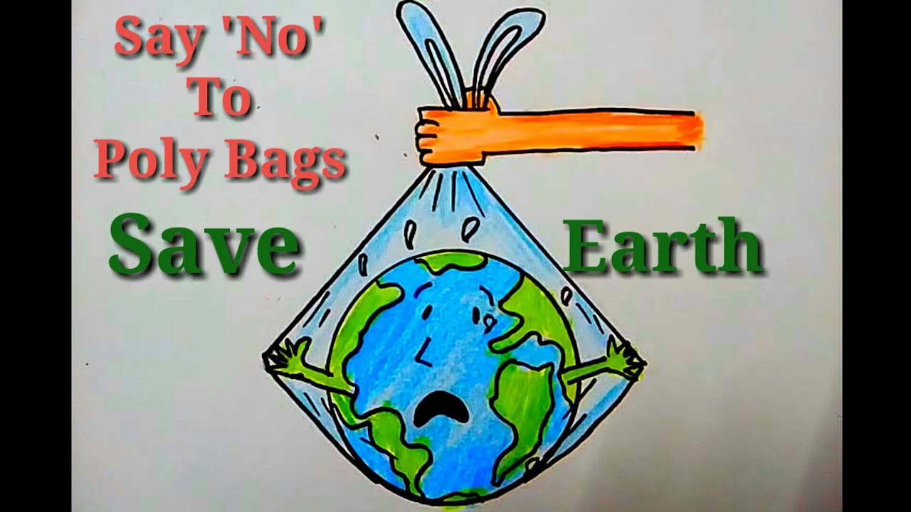 How To Make A Poster On Say No To Plastic