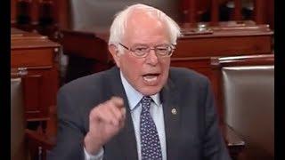 """IT'S ALL A FRAUD!!!"" Bernie Sanders' BRILLIANT Takedown of Donald Trump & His Billionaire Lackeys"