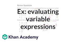 Examples of evaluating variable expressions