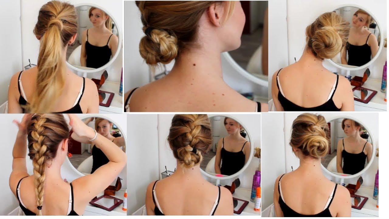 Frisuren Einfache Alltagsfrisuren Lange Haare