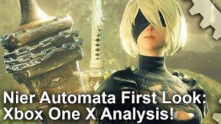 [4K] Nier Automata Xbox One X First Look: Is It Really A 4K Game?