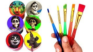 Disney Coco Drawing & Painting with Surprise Toys Miguel Dante Hector Imelda Mama Coco Ernesto Toys