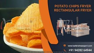 POTATO WAVY CHIPS / POTATO RUFFLE CHIPS MAKING MACHINE