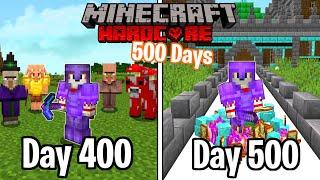 I Survived 500 Days in HARDCORE Minecraft