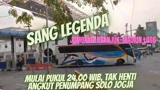 Sore Hari Sugeng Rahayu, bis favorit arah Madiun solo Jogja sudah beroperasi..