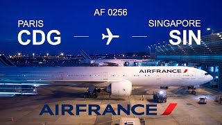 Flight experience Premium Economy Air France from Paris (CDG) to Singapore (SIN) with Boeing 777-300
