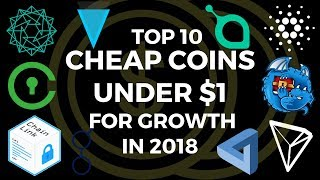 Top 10 Coins Under $1 to Buy CHEAP BEFORE they 10x in 2020