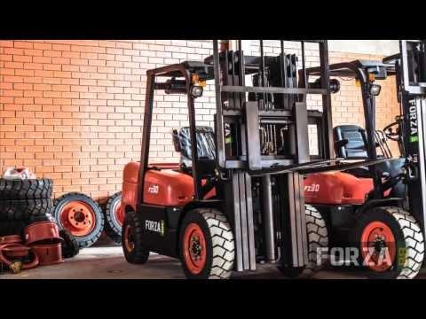 Empilhadeira à Diesel 3 Toneladas 4,5 Metros 3 Estágios FZBR35D-3E Forza - Vídeo explicativo