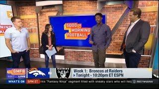 Bold Prediction for Week 1 - Broncos at Raiders; Texans at Saints Tonight | Who wins? | NFL GMFB