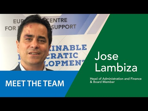 Jose Lambiza - Chef de l'Administration/Finances & Membre du CA