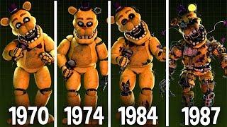 [SFM FNAF] Fredbear: Characters Appearance Timeline (Series Backstage Animation)
