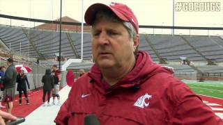Mike Leach After Scrimmage April 8