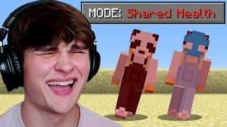 Minecraft, But Our Health Is Shared...
