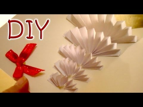 Homemade Christmas and New Year 3D Card - 3D Greeting Card - White Christmas