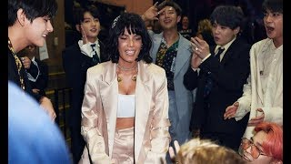 BTS and Celebrities Interaction at the Billboard Music Awards 2019