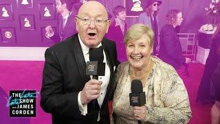 James Corden's Parents Head to the GRAMMYs