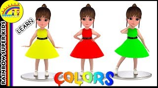 Learn Colors for Kids with Baby Girl | Color Learning Videos | Teach Colors for Babies
