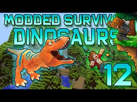 Minecraft: Modded Dinosaur Survival Let's Play W/Mitch! Ep. 12 - Rest In Power Moves - Smashpipe Games