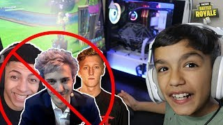 My 10 Year Old Little Brother Thinks He Is The Best Fortnite Player!