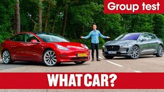 2020 Tesla Model 3 vs Jaguar I-Pace SUV review – which is best? Electric car showdown | What Car?