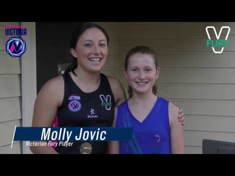 Molly Jovic meets two young fans