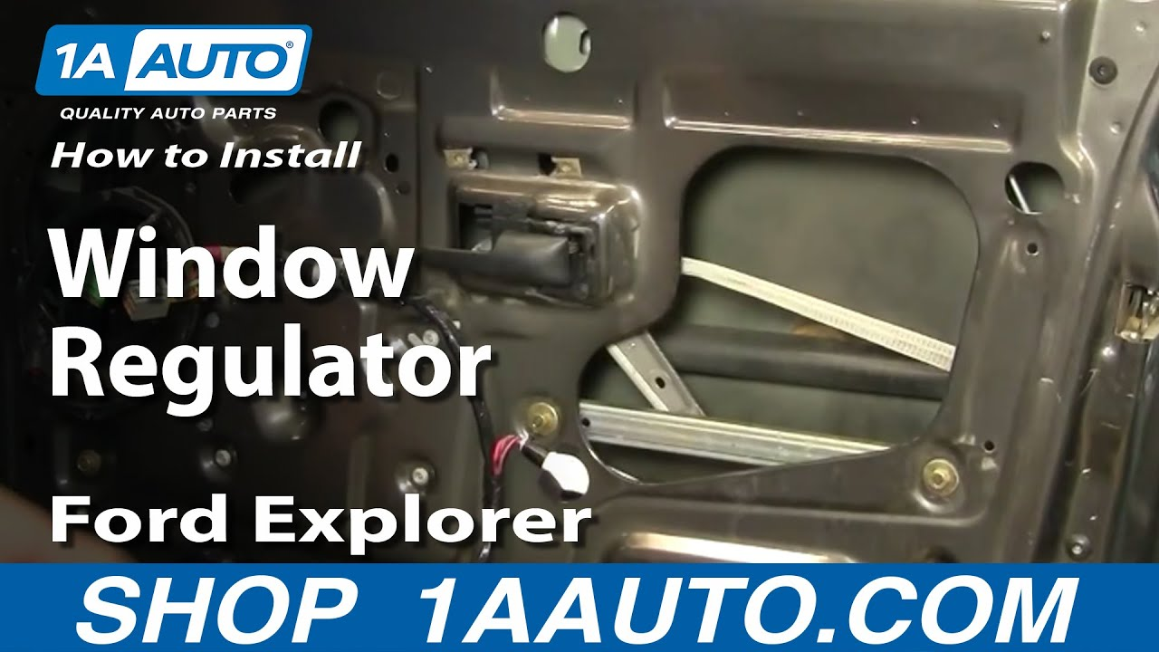How To Install Replace Window Regulator Ford Explorer