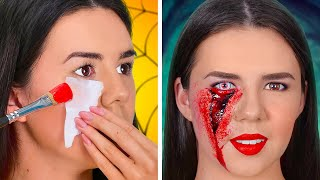 HOW TO SNEAK INTO A HALLOWEEN    SFX Makeup Tutorials and Scary Halloween Costumes by 123GO! SCHOOL