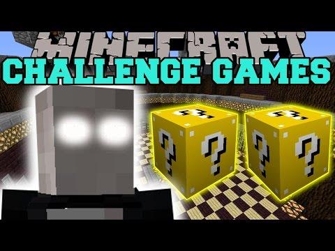 Minecraft: SLENDERMAN CHALLENGE GAMES - Lucky Block Mod - Modded Mini-Game