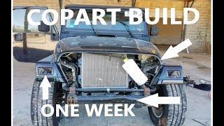 One Week COPART Auction JEEP TJ Build   2005 X