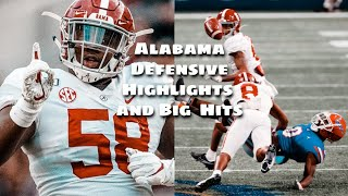 Alabama Defensive Highlights And Big Hits 2020-21