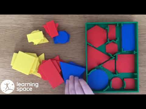Attribute Blocks - Desk Set Pk60 - To learn shape and space