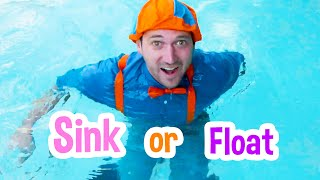 Sink or Float with Blippi   Cool Science Experiment for Kids   Educational Videos For Kids