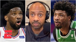 'Marcus Smart flops too!' - JWill on Joel Embiid getting called out for flailing | KJZ