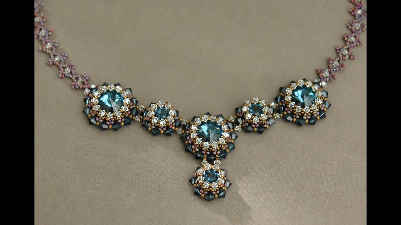 Sidonia's handmade jewelry - Blue Roses Necklace ...