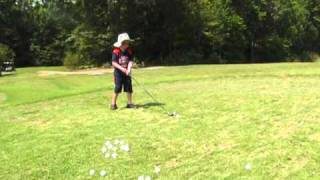 Andrew the Golf player. 5 years old.  100 yard shots.
