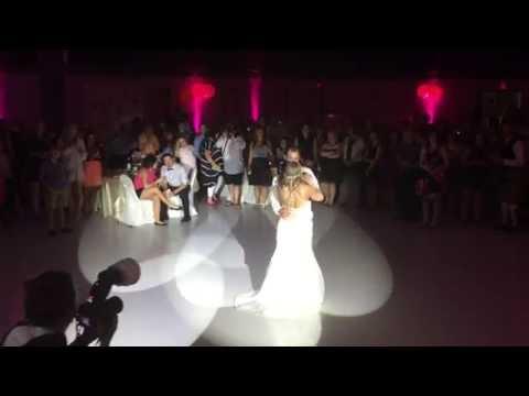 Saskatoon Wedding DJ   1st Dance Lighting Bride & Groom   Armed With Harmony