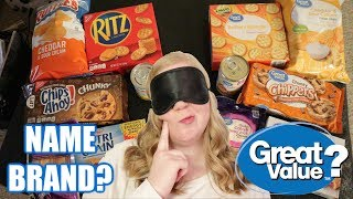 GREAT VALUE vs. NAME BRAND | Blind Taste Test | Snack Edition | Blessed Jess